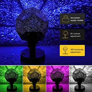 Baby Light Projector, Star Lights Constellation Projector Children Cosmos, Projection Night Light LED Projector Lamp, Star Sky Night Lamp