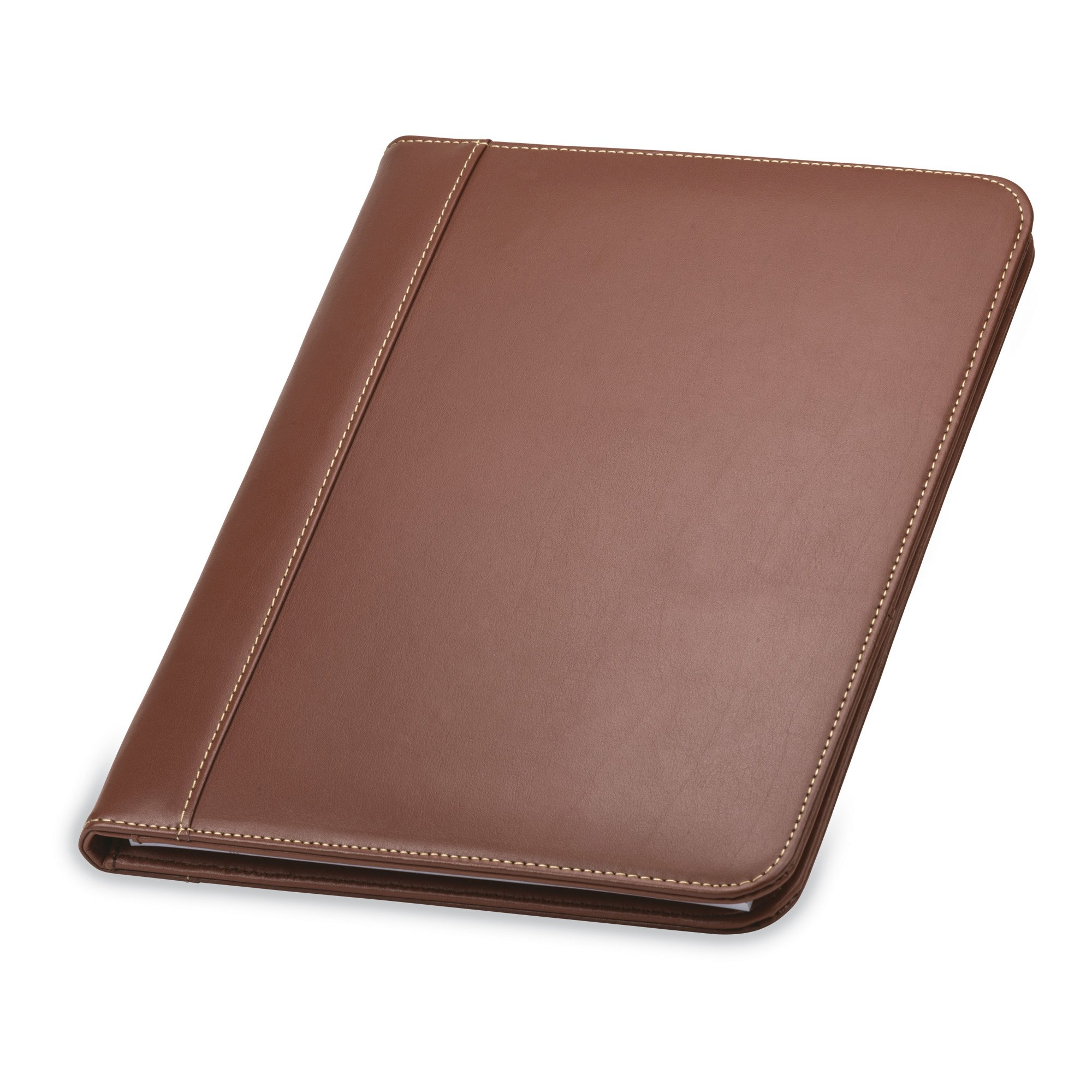 Samsill Contrast Stitch Leather Padfolio