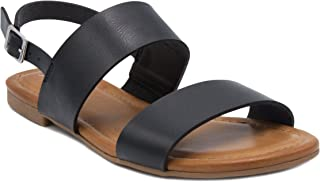Sugar Women's Pallas Sandal Double Banded 2 Strap Slingback with Buckle