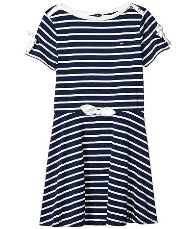 Tommy Hilfiger Kids Multi Stripe Dress (Big Kids) (Flag Blue) Girl