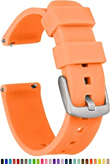 GadgetWraps 20mm Gizmo Watch Silicone Watch Band Strap with Quick Release Pins – Compatible with Gizmo Watch, Amazfit, Samsung, Pebble – 20mm Quick Release Watch Band (Orange Glow, 20mm)