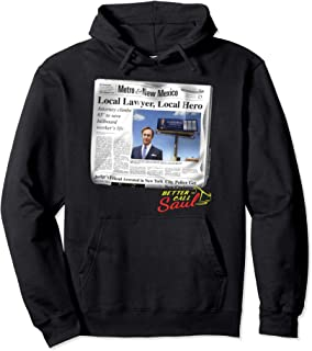Better Call Saul Local Lawyer, Local Hero Newspaper Portrait Pullover Hoodie