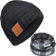 ZecRek Bluetooth Beanie Hat Headphones V4.2 Wireless Musical Winter Knit Hat Cap w/Built-in 2 HD Stereo Speakers & Mic Gifts for Men/Dad/Women/Mom/Teen Boys/Girls Stocking Stuffer