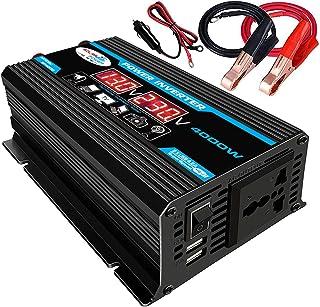 KKmoon Inversor de onda senoidal modificado de alta frequência 4000W Peak Power Watt Power Inverter Conversor DC 12V para ...