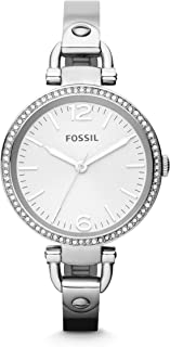 Fossil Georgia For Women Silver Dial Stainless Steel Band Watch - ES3225