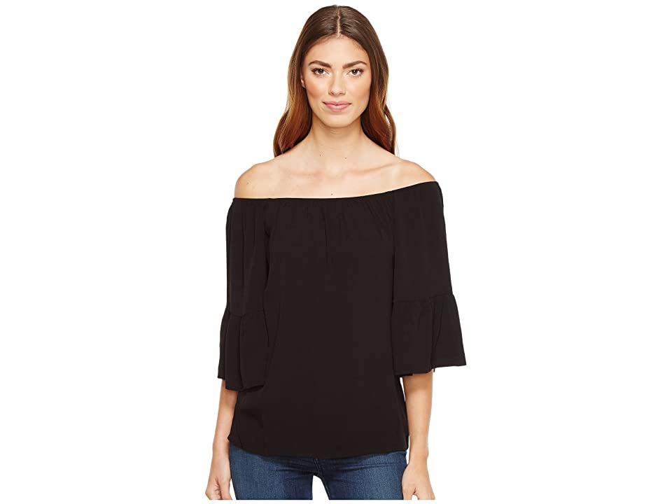 Sanctuary Flor Off the Shoulder Top (Black) Women