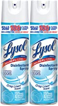 Lysol Disinfectant Spray, Sanitizing and Antibacterial Spray, For Disinfecting and Deodorizing, Crisp Linen, 2 Count, 19 fl oz each