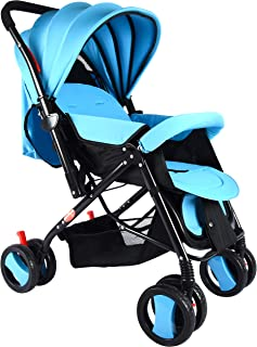 BABY PLUS BP7732 Baby Stroller with Canopy, Blue - Pack of 1, BP7732-BLUE