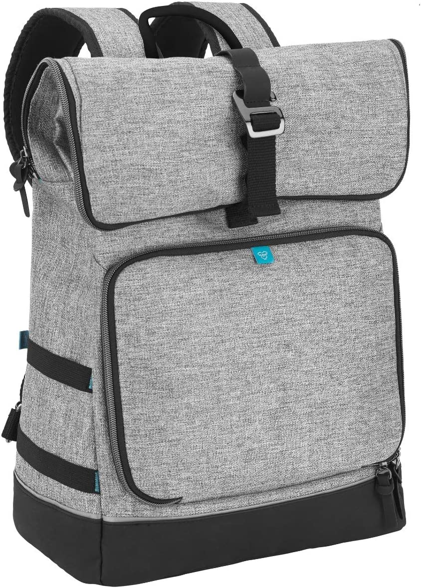 Babymoov Sancy Diaper Bag Backpack | Unisex Back Pack With Heavy Duty Roll-Top Closure, Large Insulated Compartment, Changing Pad And Accessories