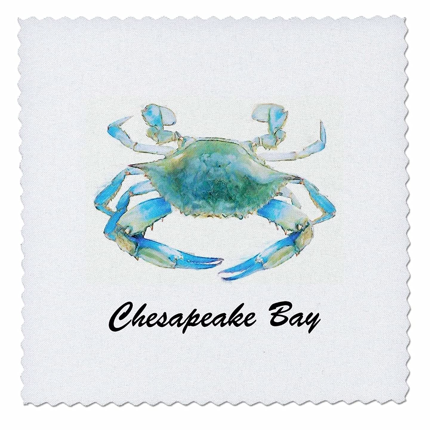 3dRose qs_128181_6 Chesapeake Bay Blue Crab Maryland Quilt Square, 16 by 16-Inch