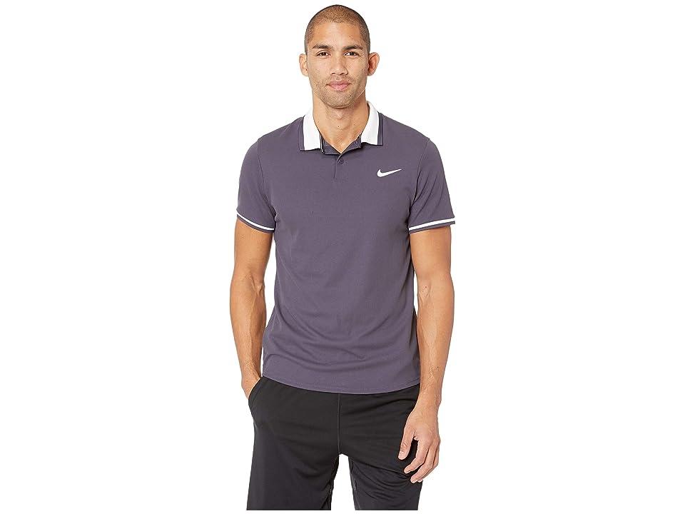 Nike NikeCourt Advantage Polo Classic (Gridiron/Gridiron/White/Peat Moss) Men
