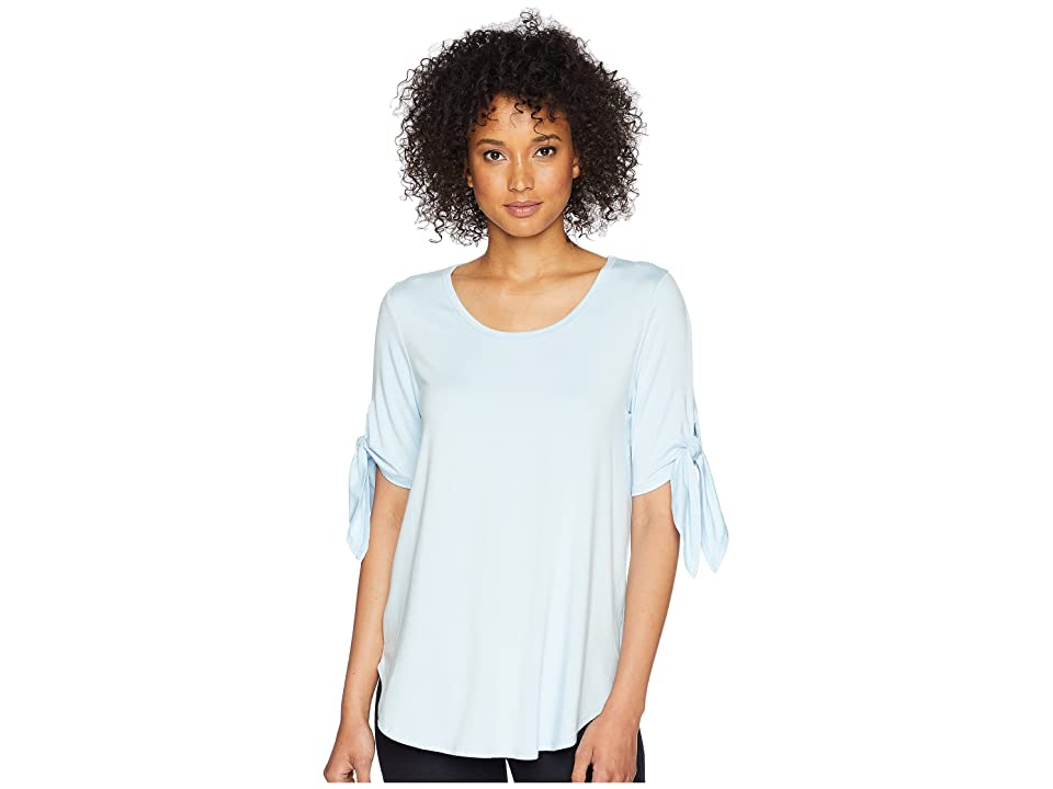 Karen Kane Short Sleeve Knot Tee (Sky Blue) Women