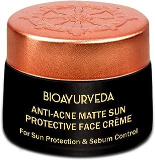 BIOAYURVEDA Anti-Acne Matte Sun Protection Face Cream with Broad Spectrum SPF 30 for Acne Prone & Sensitive Skin Tone-UV Protection,Dry Skin|Moisturizer for Face-Body Lotion-Skin Care Cream 40GM