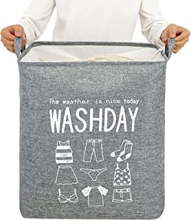Large Laundry Basket, Baby Laundry Basket, Waterproof Laundry Hamper, Foldable Clothes Hamper, Collapsible Laundry Basket...
