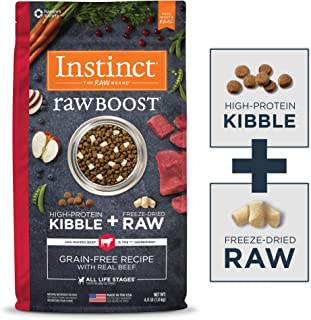 Instinct Raw Boost Grain Free Dry Dog Food, High Protein Kibble + Freeze Dried Raw Dog Food