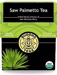 Organic Saw Palmetto Tea – 18 Bleach-Free Tea Bags – Natural Source of Fatty Acids, Phytosterols, Kosher, Caffeine-Free, N...