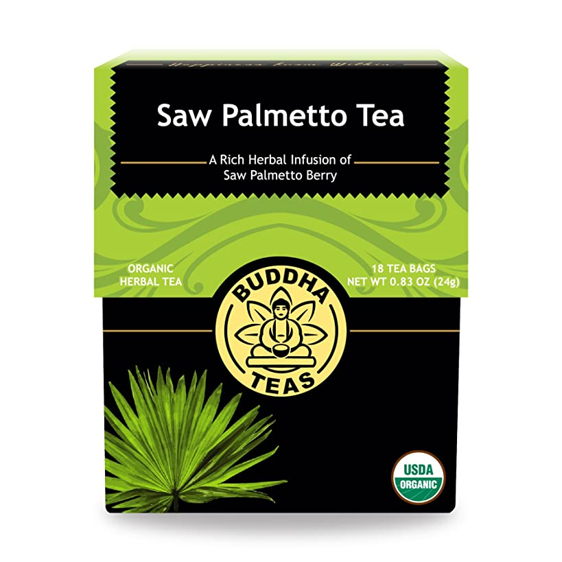 Organic Saw Palmetto Tea - Kosher, Caffeine-Free, GMO-Free - 18 Bleach-Free Tea Bags