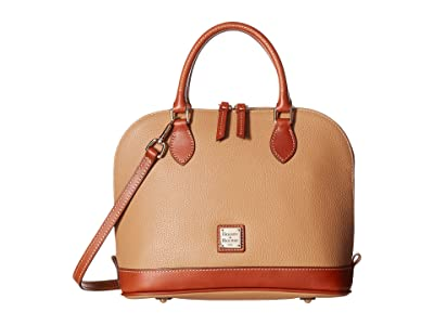 Dooney & Bourke Pebble Zip Zip Satchel (Desert) Satchel Handbags