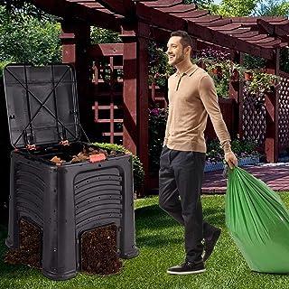 Fertilizer Compost Bin 105 Gallon Garden Waste Bin Grass Food Trash Barrel Soil Sieve Riddle Gardening Green