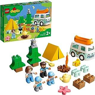 LEGO 10946 DUPLO Town Familjeäventyr med husbil för Barn 2+ år, Pedagogiska leksaker, Byggsats