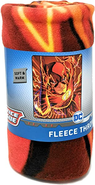 DC Justice The Flash Faster Than Fast Fleece Throw Blanket 45x60