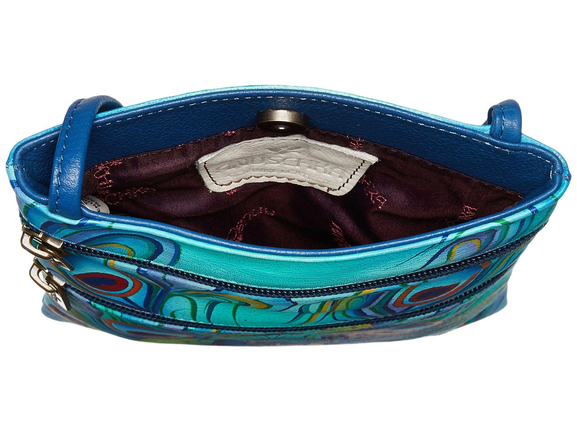 Jewelled Handbags Mini Travel Plume Double Zip Anuschka 448 Crossbody xaqRWdnw0U
