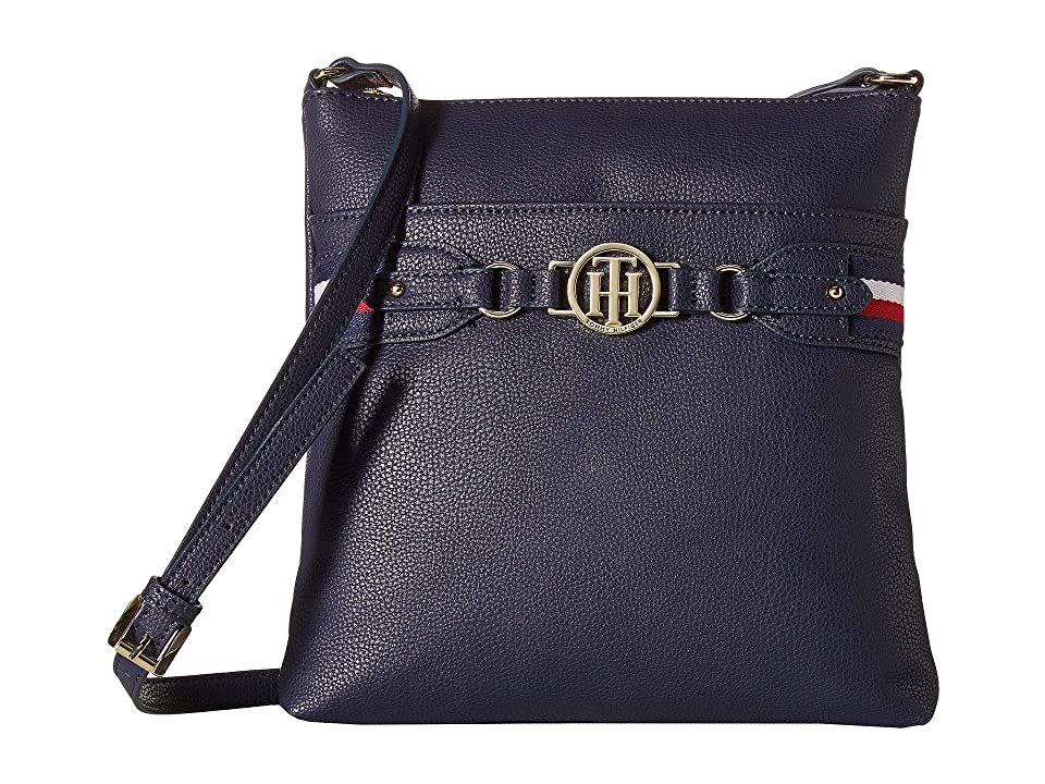 Tommy Hilfiger Brice Large North/South Crossbody (Tommy Navy) Cross Body Handbags
