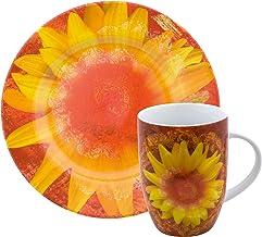 Waechtersbach Petal Power Salad and Mug Set, Sunflower Design