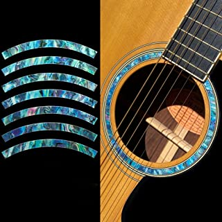 Inlay Stickers for Acoustic Guitars - Soundhole Rosette/Purfling - Stripe - Abalone Blue