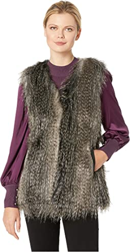 934d7bb2f7 Chevron patchwork faux fur vest | Shipped Free at Zappos