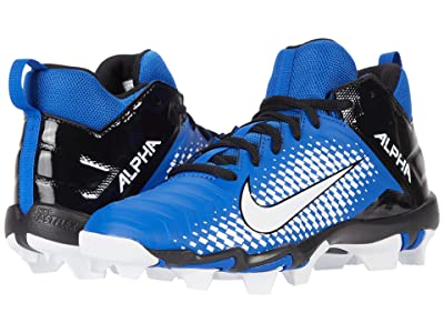 Nike Kids Alpha Menace 2 Shark Football (Toddler/Little Kid/Big Kid) (Game Royal/White/Black) Kids Shoes