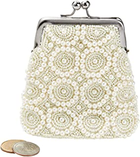 Catalog Classics Women's Beaded Kiss Lock Clasp Bags - Decorative Coin Purses