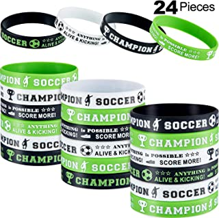 soccer rubber wristbands
