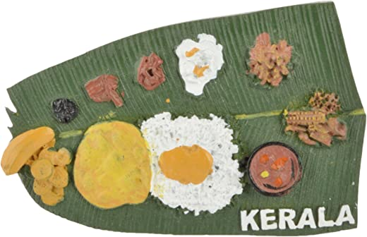 Temple Trees Polyresin Kerala Sadya Fridge Magnet