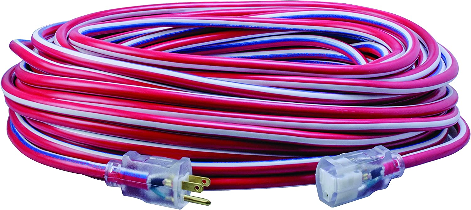 Southwire Limited price sale 2549 100-Feet Contractor Grade Lighted 12 Red 3 End Special price