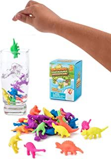IPIDIPI TOYS Water Growing Dinosaurs - 32 Pack - Expandable Animals Endless Fun in The Bathtub - Party Supplies Favors - Great Gift for Toddlers Children Boys and Girls   Fit as Easter Egg Fillers