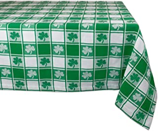 DII 100% Cotton, Machine Washable, Party, St Patrick's Day & Spring Tablecloth, 60x84