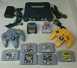 Nintendo 64 N64 Bundle with 2 Controllers, Transfer Pack, Tremor Pack & 6 Games