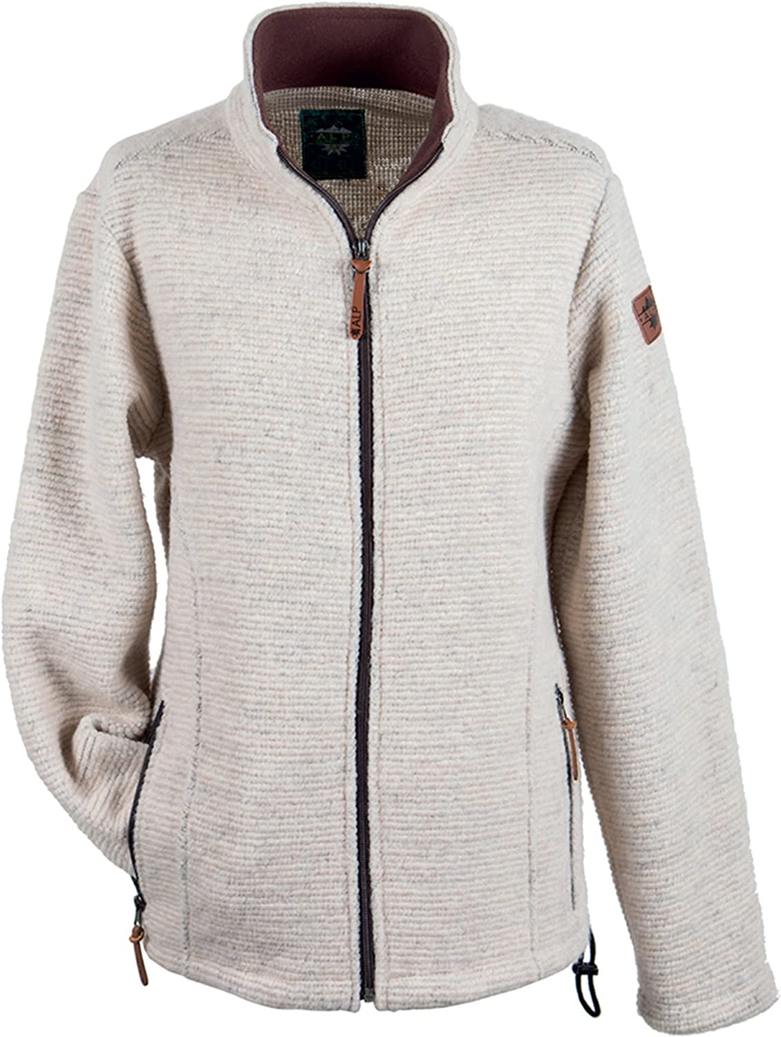 Alp by Brush Ladies KnittingSport Jacket with Contrasting Seams