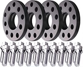 WEELTK 4pc fits Audi Volkswagen Hubcentric Wheel Spacers 15mm 5x100 5x112 with M14x1.5 Cone Bolts