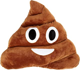 "Q's 11x12"" Poop Emoji Emoticon Cushion Toy Pillow Brown Stuffed USA Seller"