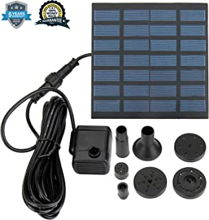 VC-Time Solar Water Pump with 7V Brushless Submersible Water Pump and 1.2 Watt Solar Panel Kit for Solar Powered Pond, Fountain, Water Feature, Hydroponics, Aquarium, Aquaculture