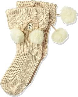 UGG Girls' Little Rahjee Pom Rainboot Sock