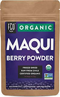 Sponsored Ad - Organic Maqui Powder | 4oz Resealable Kraft Bag | 100% Raw From Chile | by FGO