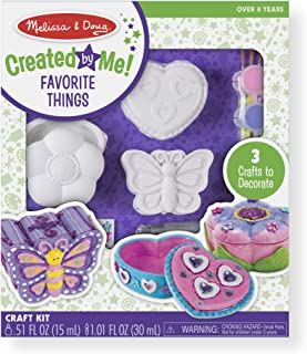 Melissa And Doug 9534 Decorate-Your-Own Favorite Things Craft Kits Set: Flower and Heart Treasure Box and Butterfly Bank