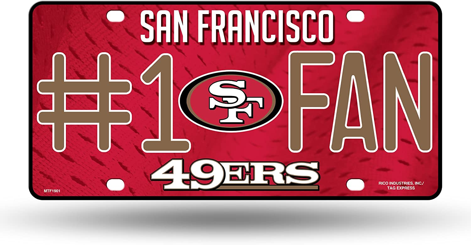 NFL Rico Industries New Orleans Mall #1 Fan Metal Francisc San Tag Special price License Plate