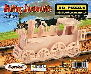 Puzzled Train 3D Jigsaw Puzzle (30-Piece), 9.5 x 3 x 5