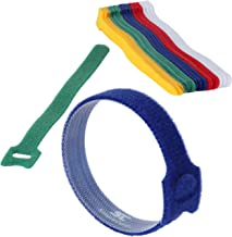 """Cable Management Ties - (30) 8"""" Reusable Self-Gripping Cord Straps - Organize Cables, Cords, and Wires - Simple Cord Organ..."""