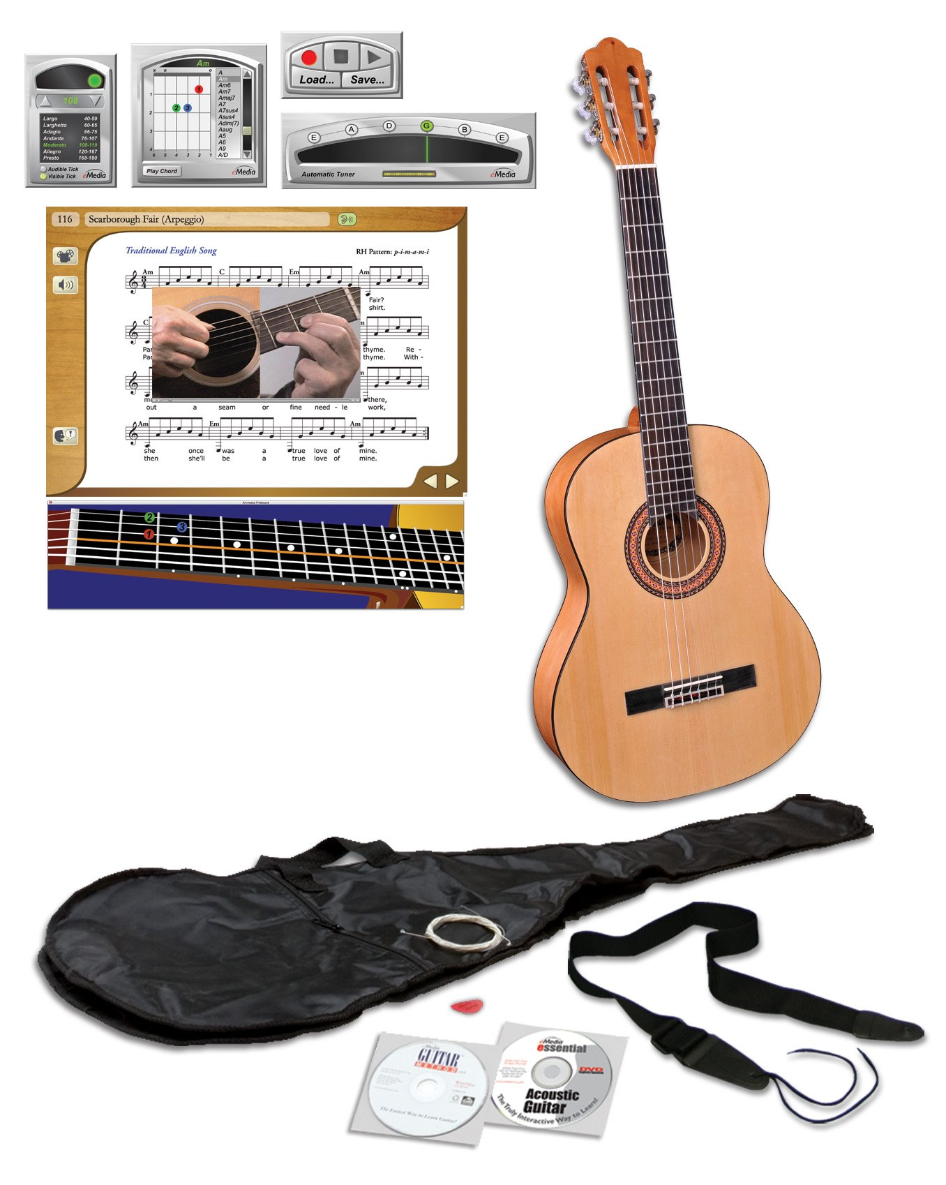eMedia Teach Yourself Pack de guitarra clásica (nylon-string ...