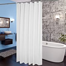 AooHome Fabric Shower Curtain 72x78 Inch, Extra Long Shower Curtain Liner for Hotel with Hooks, Waterproof, White